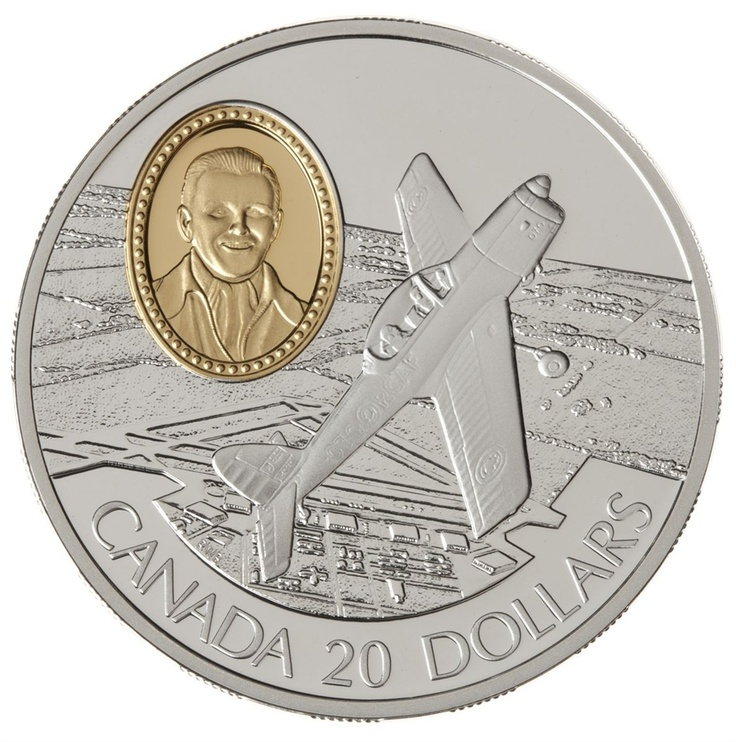 $20 1995 Silver Coin - DHC-1 Chipmunk