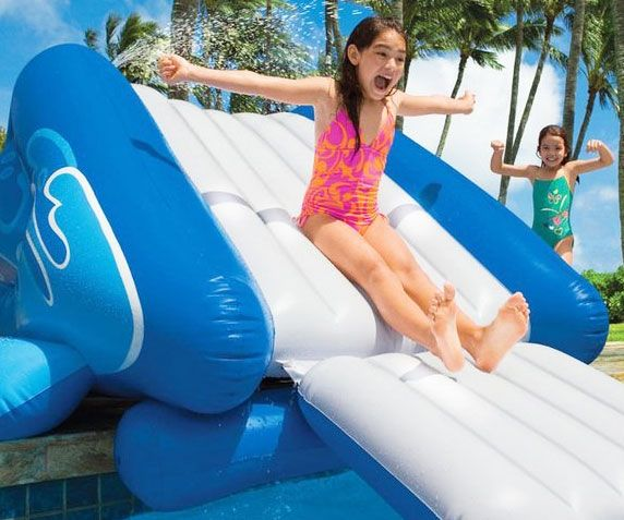 Inflatable Slide Pool Tesco: 25+ Unique Inflatable Water Slides Ideas On Pinterest