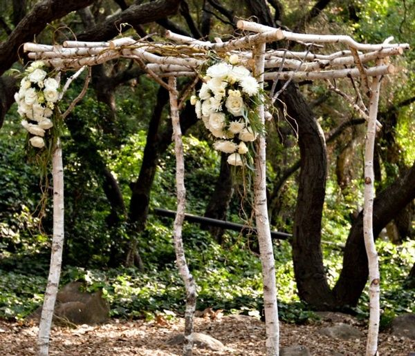 Rustic Wedding Arch Ideas: Rustic Wedding Arch