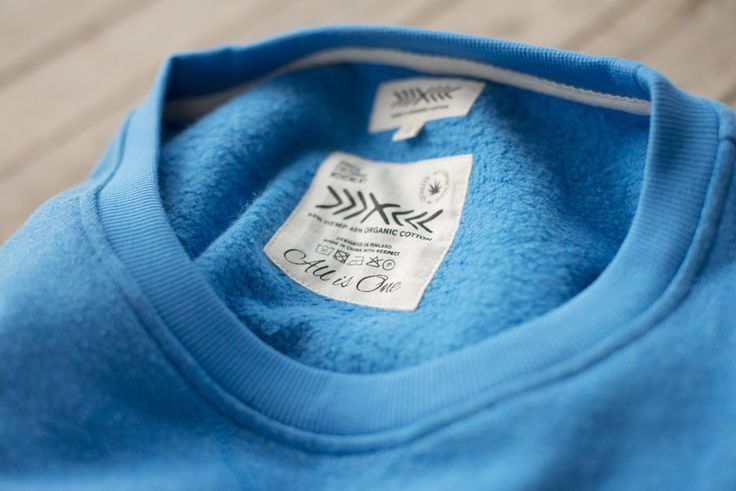 RCM CLOTHING SS15 / Crewneck / 55% hemp 45% organic cotton fleece / Sustainable Hemp Apparel http://www.rcm-clothing.com/