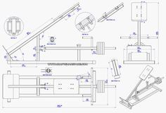 Incline lever row plan - Assembly drawing