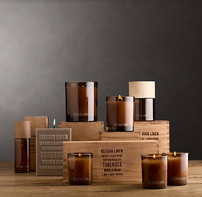 Candlelight & Scent | Restoration HardwareScented Collection, Drawing Inspiration, Restoration Hardware, European Home, Packaging Design, Linens Scented, Belgian Linens, Home Scented, Destinations Abroad