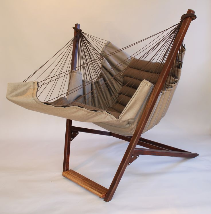 the Bohorockers swing chair made with solution dyed acrylic sunbrella fabric. Probably the most comfortable chair you will sit in.