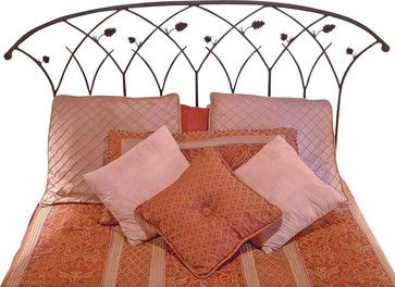 Piney Woods Wrought Iron Headboard - craftsman - Headboards - Timeless Wrought Iron