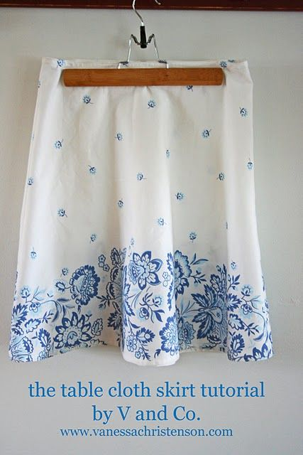 tablecloth to skirt tute