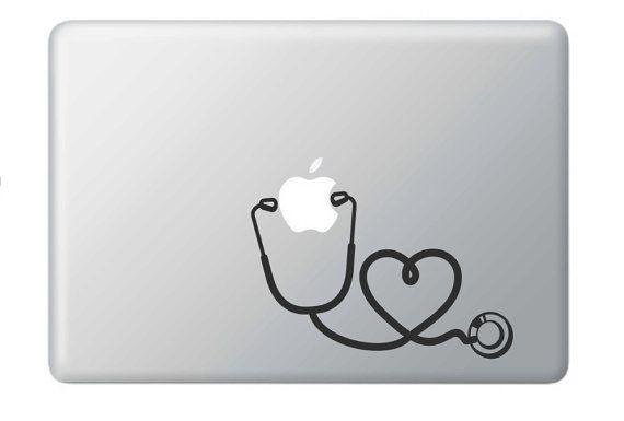 Stethoscoop - verpleegkundige Vinyl sticker voor Macbook, auto