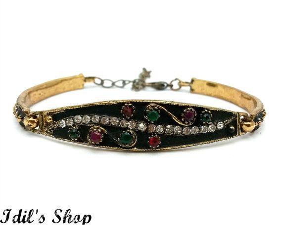 Turkish Ottoman Style Bronze Bracelet Friendship Charm Bracelet by IdilsShop