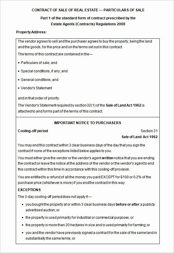 50 Awesome Free Real Estate Contract Template In 2020 Free Word