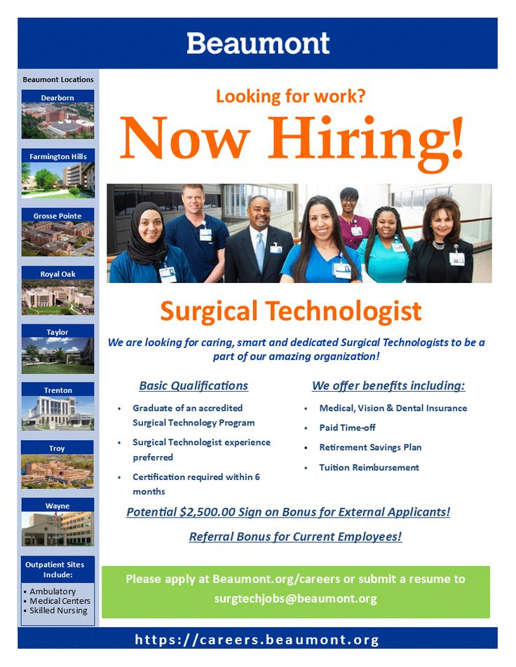 Check out Surgical Technologist positions throughout