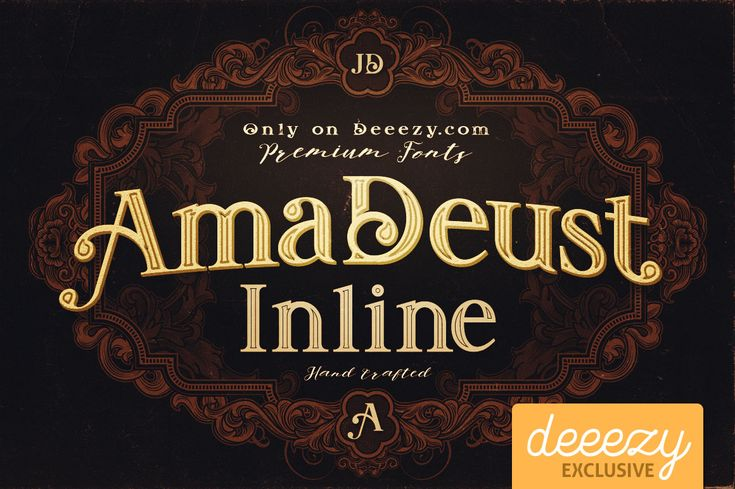 Amadeust Inline Font | Deeezy - Freebies with Extended License