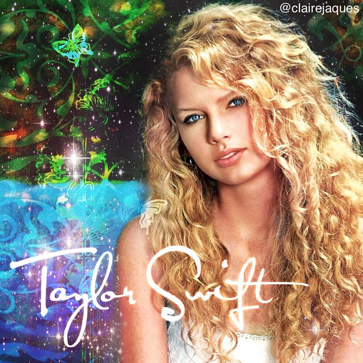 Taylor Swift Debut Album cover edit by Claire Jaques