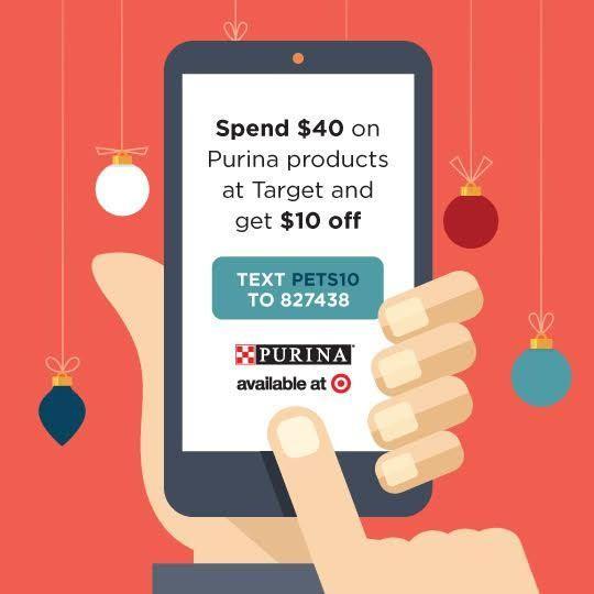 Purina savings, Target, #Txt4Pet, AD @target:
