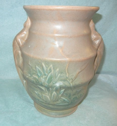 Scarce 9 Quot Mccoy Pottery Lizard Handle Vase Excellent