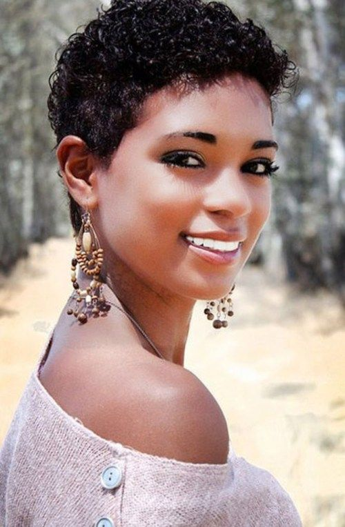 50 Most Captivating African American Short Hairstyles | Curly hair styles naturally, Short natural hair styles, Short wavy hair
