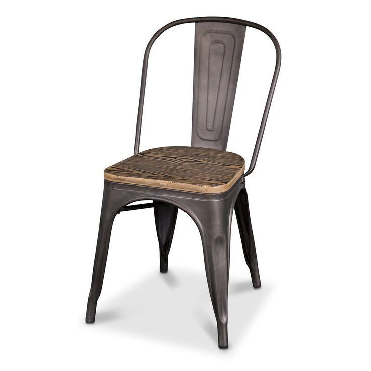 Köp - 739 kr! Stol industry - Plåt / trä. Industry är en populär serie hos oss med möbler i