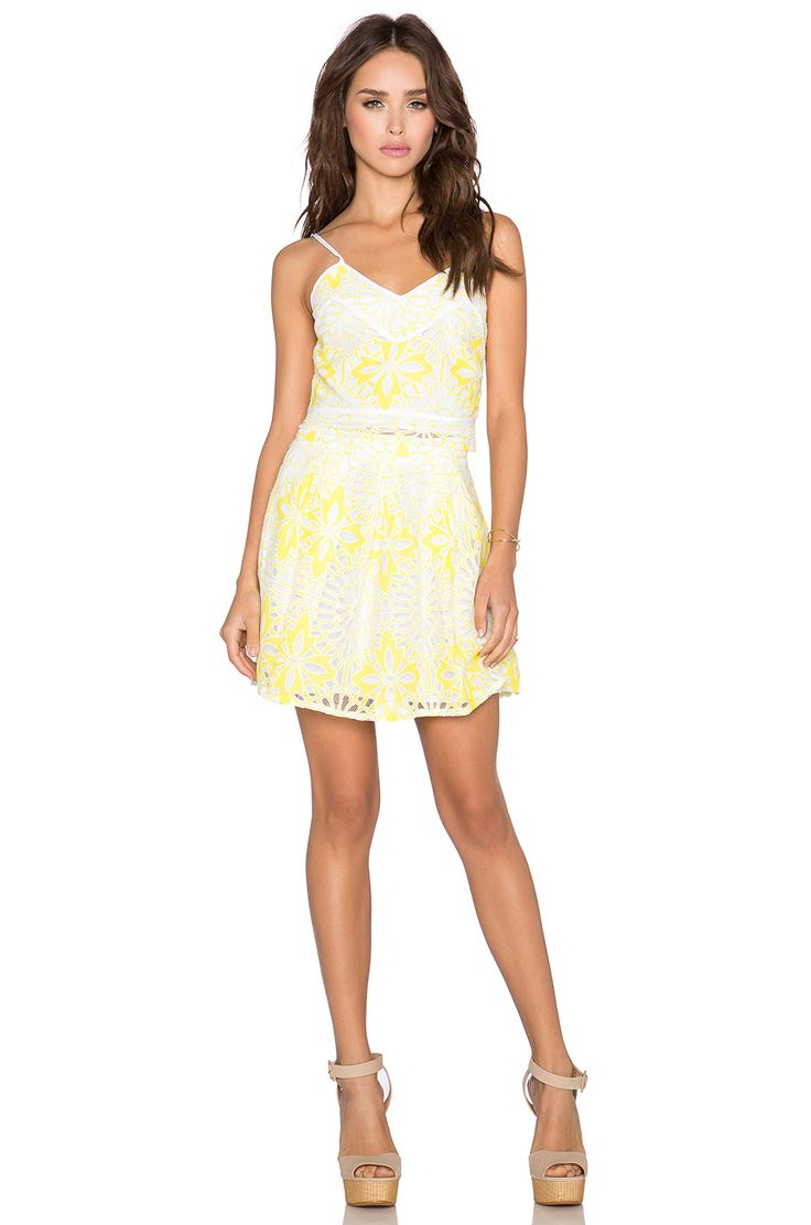 Chloe Oliver Frenchie Skirt in White & Canary