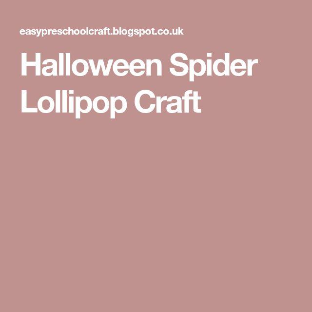 Halloween Spider Lollipop Craft