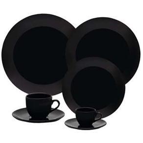 Aparelho de Jantar, Chá e Café Oxford Porcelanas Black EM424924 - 42 Peças