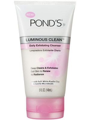 Pond's Luminous Clean Daily Exfoliating Cleanser ($6.49): We really love this cleanser. It's hypoallergenic, delicate for everyday use, and it leaves our skin feeling fresh and bright.