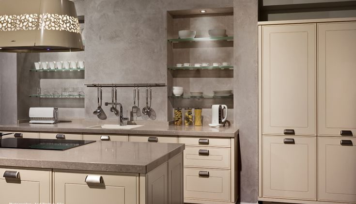 Caesarstone Kitchen Countertop Caesarstone Quartz Surface Caesarstone Shitake 4230 Modern Kitchen www.westsidetile.com
