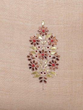 Ivory Matka Silk Cushion Cover with Gota Patti