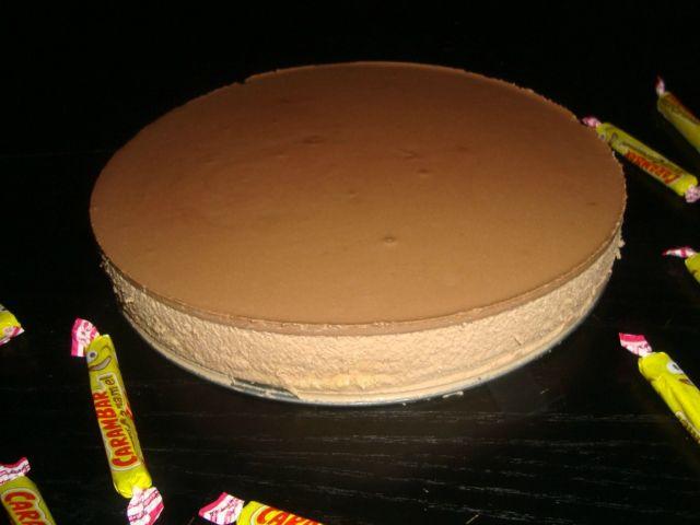 Bavarois au carambar et au chocolat noir