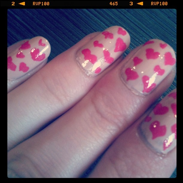 Love heart nails