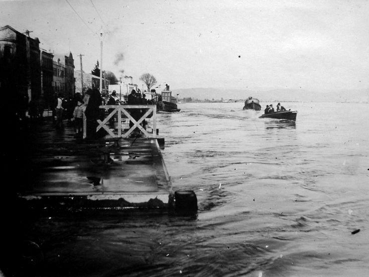 Inundación del año 1922,.Muelle Schuster