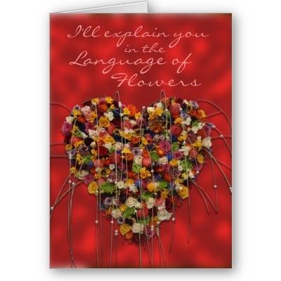 http://www.zazzle.com/language_of_flowers_card-137146596257071465 © crazycolors' store