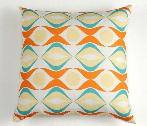 retroRetro Decor, Waves Orange, Retro Waves, Waves Pillows, Colors, Waves Pillowcushion, Atelier Articles, Decor Pillows, Design