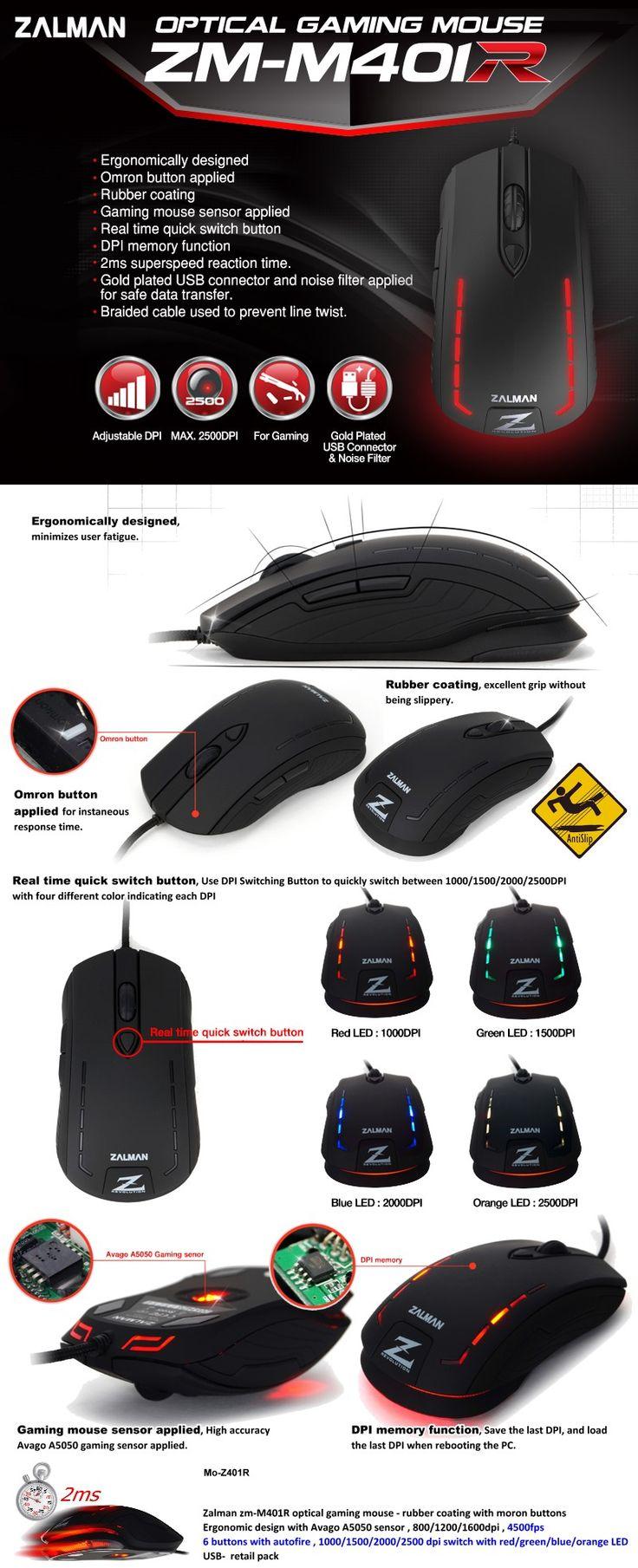 Zalman ZM-M40IR Optical Gaming Mouse