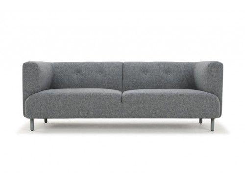Earl, 3-seater sofa, Liby Stone, Light Grey Legs