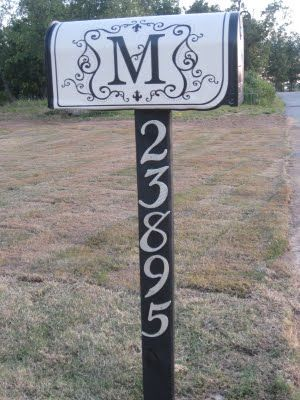 mailbox makeover...it even the letter M!!