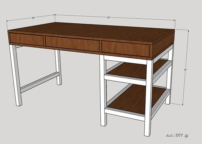 41++ Farmhouse desk with storage best