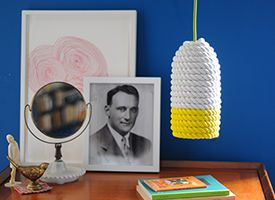 Craft a Colorful Rope Lampshade on Etsy