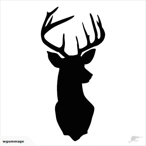 DEER/STAG HEAD - DIY WALL DECAL | Trade Me