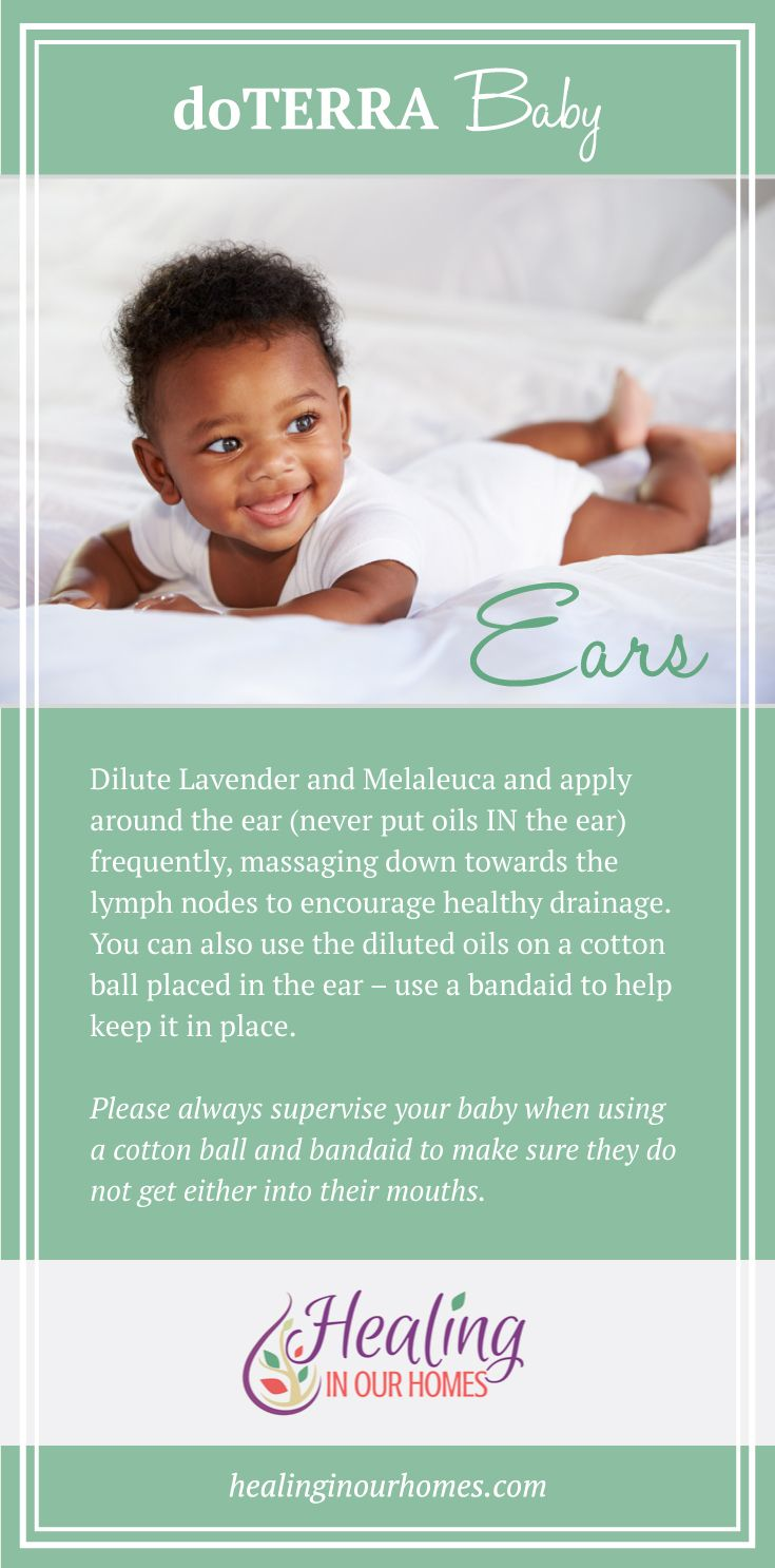 A great doTERRA blend for healthy ears! **Never put oils IN the ear**