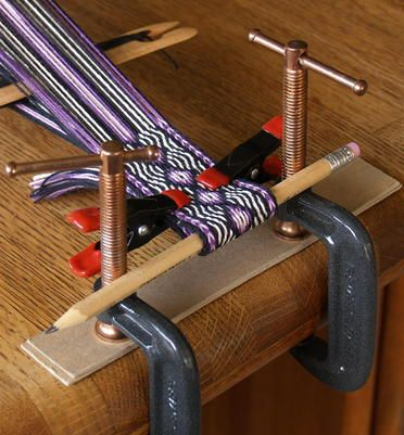 Simple Loom for Card Weaving. This, I can do!