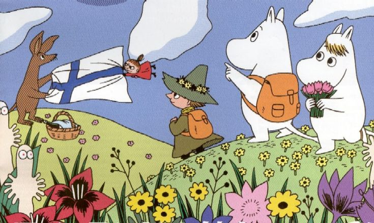 Moomins- the great Finnish cartoon.