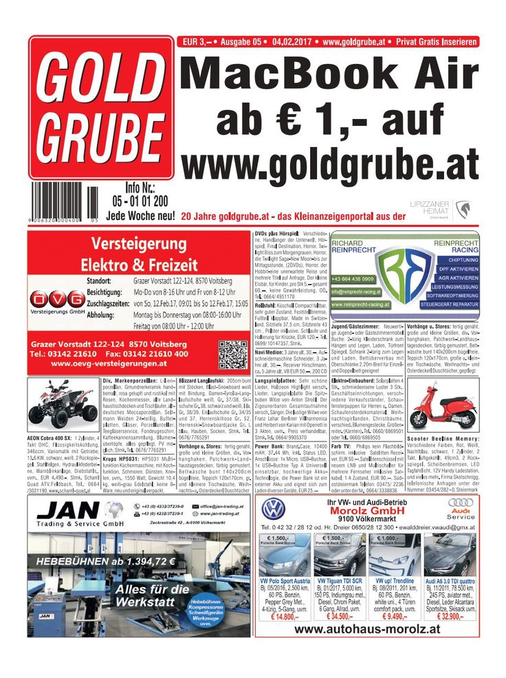 Privat Gratis Inserieren auf www.goldgrube.at https://www.yumpu.com/de/document/view/56819966/goldgrube-ausgabe-5-17
