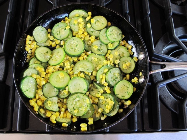 Zucchini Corn Sauté - Use basil instead of dill and add finely diced ...