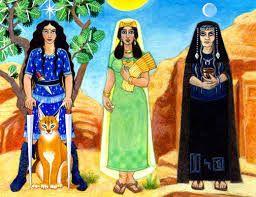 25 – La hermosa Sunna era la brillante diosa del sol, Men la diosa de la luna y Freya la diosa de la fertilidad, de la juventud y el amor.