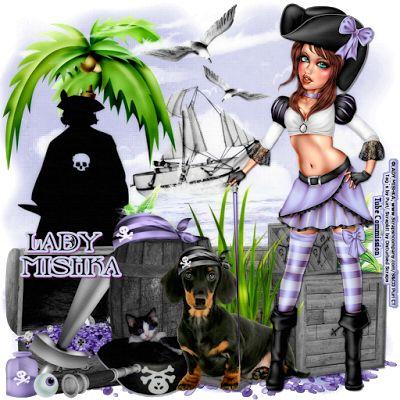 """MI RINCÓN GÓTICO: CT for Disturbed Scraps, """"Pirate Moll"""""""