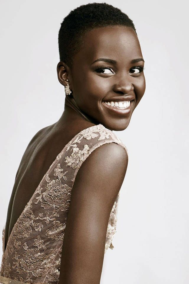 LUPITA NYONG'O SHARES HER BEAUTY SECRETS: THE SHORT CROP Afro pick [like Jäneke's] [$28] & Miss Jessie's Baby ButterCreme ($58).  SPEEDY MAKEUP Lancôme Hypnôse Mascara ($27.50) Lancôme's Blush Subtil in Aplum.  HEAD-TO-TOE SKIN CARE Avocado oil & Lancôme's Advanced Génifique serum ($134).  SUBTLE SCENTS Jouer Perfume Oil ($42). COLORFUL NAILS Lancôme's blue Marine Chic ($15).
