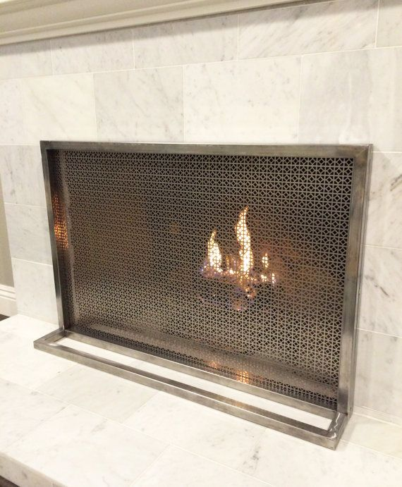 1000 ideas about modern fireplace screen on