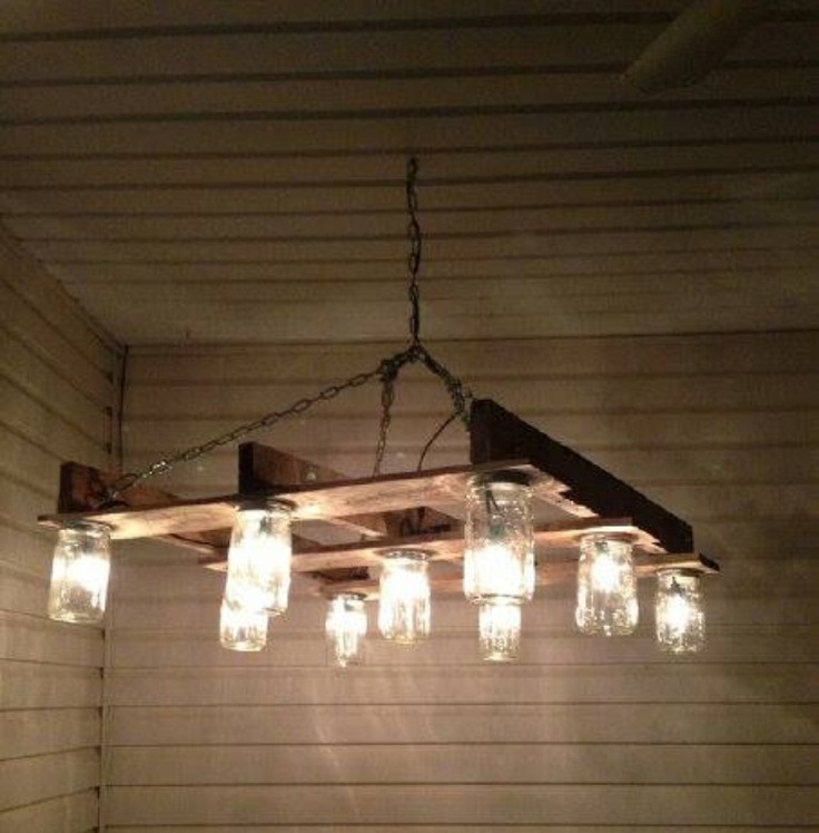 23 Best Pallet Lighting Images On Pinterest Chandeliers