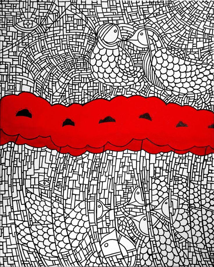 """""""Echi d'Amore"""" 40×50 cm. acrylic and ink on canvas 2014 1400 € Vote for this artwork!Please clickFacebook like,Twitter, PinterestandGoogle plus Vota questa opera!CliccaMi piacesu Facebook,Twitter, PinteresteGoogle plus Vincenzo Pazzi (Milano – Italy) nato a Gela, in Sicilia, nel '79, Vincenzo Pazzi, designer di professione, si trasferisce nel '98 a Milano e consegue presso il Politecnico …"""