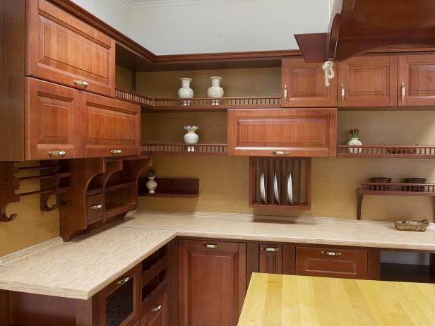 HGTV has inspirational pictures, ideas and expert tips on design options for open kitchen cabinets and options for creating an open cabinet look.