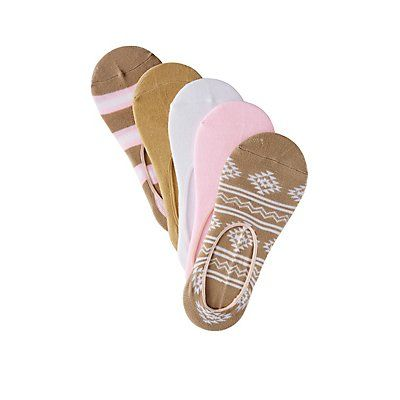Multi Assorted Tribal Shoe Liners - 5 Pack