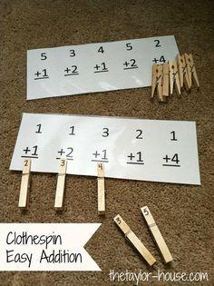 Clothespin Easy Math Activity